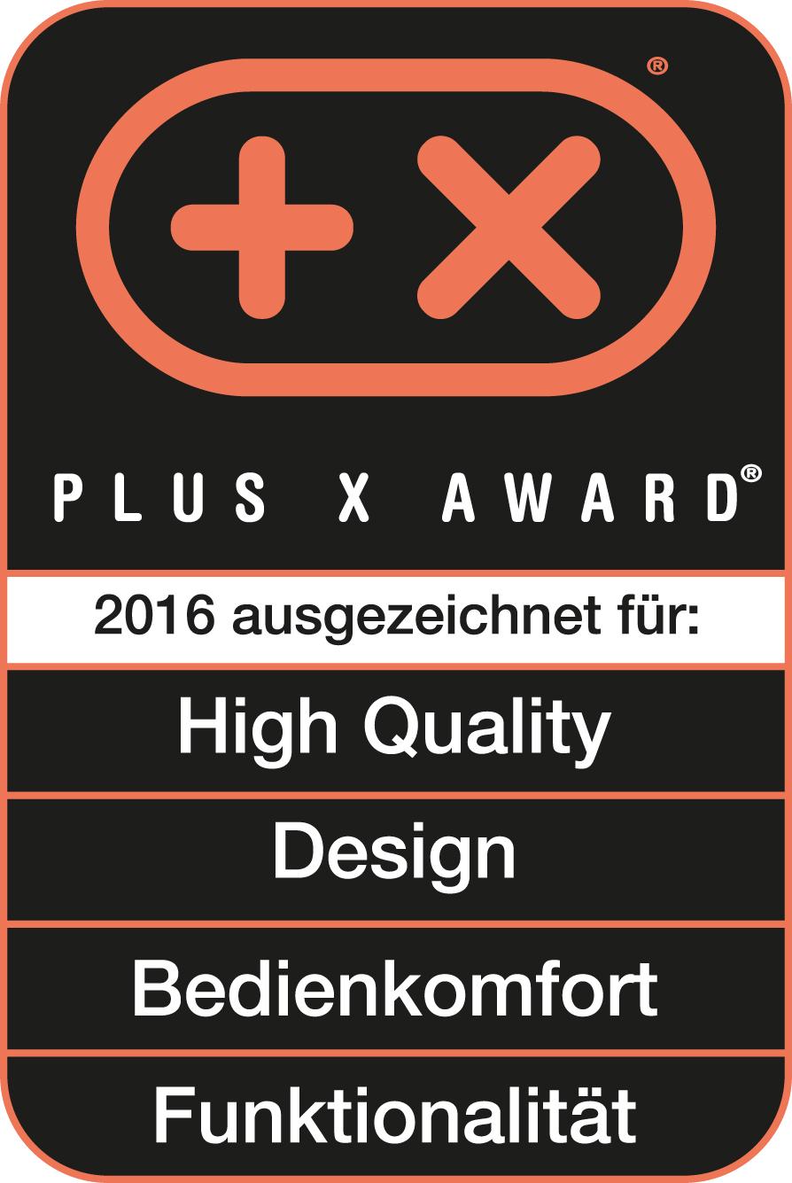 Plus X Award 2016奖项,高品质, 设计感, 实用性, 功能性