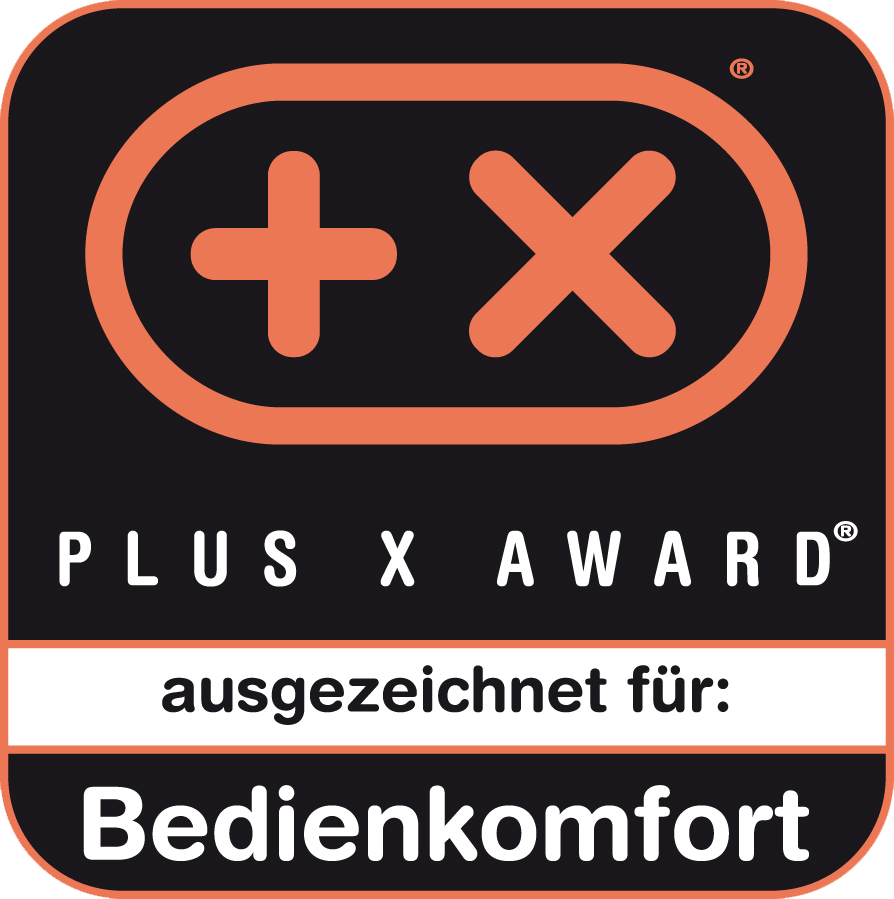 Plus X Award Bedienkomfort