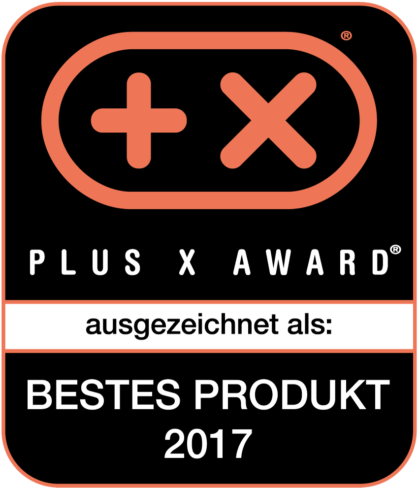 Plus X Award 2017 Bestes Produkt